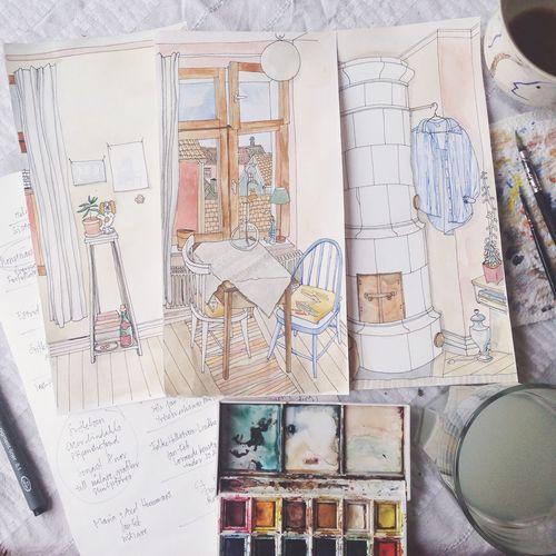 Snälla, glömda Art, Drawing, Creativity Colors Portrait Weekend Painting Coffee Home Sketch Hello World