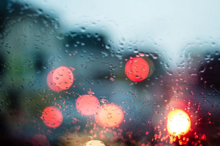 Blink Defocused Glare Glimmer Light Light Effect Rain RainDrop Raindrop On Glass
