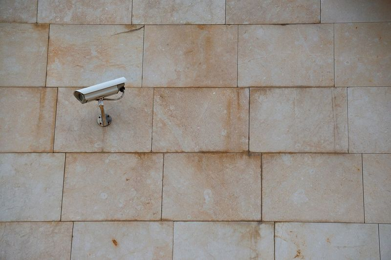 security camera on the wall Camera Video Camera Security Security Camera Technology Wall Backgrounds Streetphotography Street Bilbao SPAIN Surveillance Video Equipment Safety Protection Watching Architecture