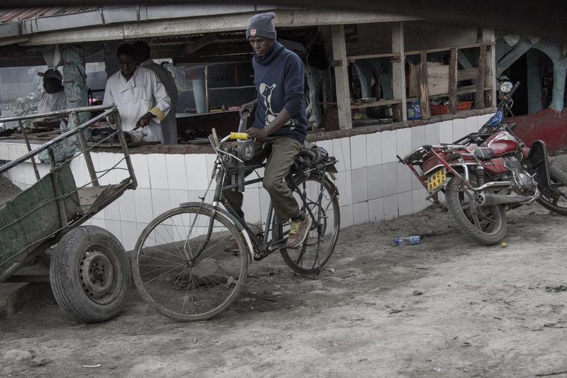 Bicycle Bike Black Men Men Outdoors Sharpening Street Young Men
