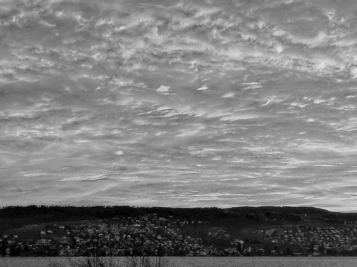 Atmospheric Mood Cloud Cloud - Sky Cloudscape Cloudy Dramatic Sky Overcast Silhouette Sky Sunrise Tranquility Weather Atmosphere Dusk Majestic Moody Sky HDR Black & White Blackandwhite Hdr_Collection Lake Lake Of Zurich Lake View Switzerland The Great Outdoors With Adobe