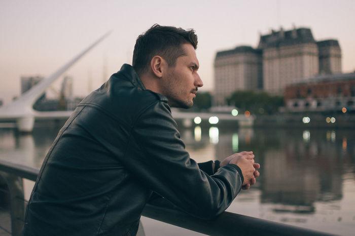 Argentina Casual Clothing Focus On Foreground Jacket Leather Leather Jacket Leisure Activity Lifestyle Lifestyles Man Outdoors Portrait Sunset Travel Vacation VSCO Vscocam Young The Portraitist - 2016 EyeEm Awards