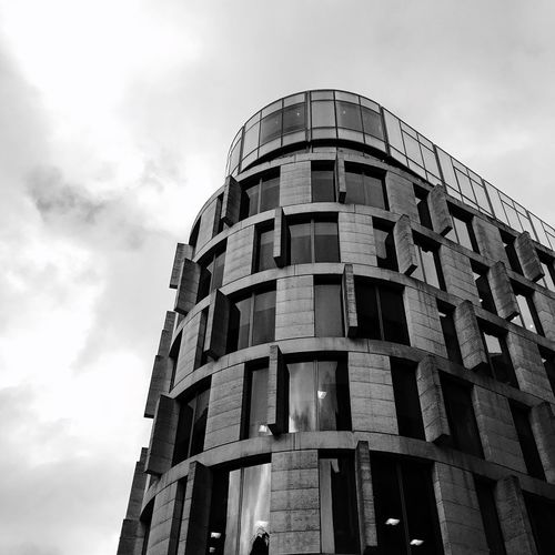 Building Exterior Architecture Built Structure Low Angle View Sky No People Outdoors City Day London Streetphotography Blackandwhite Modern Glass
