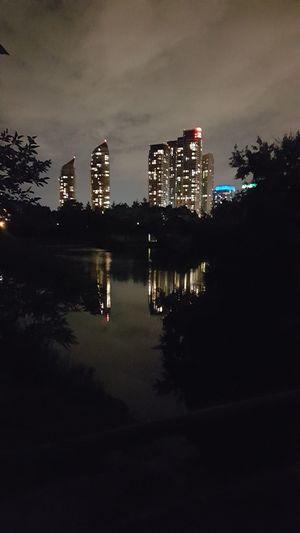 Reflection Night Outdoors Urban Skyline No People Illuminated Horizontal Cityscape Architecture Skyscraper Crisis Sky Toronto 6ix