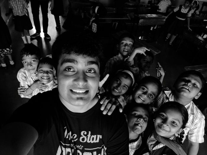 Even in black n white life... They dont hesitate to find happiness.... TeachForIndia Adopt Theydeservetheworld Theyarespecial Theyarepure HappyFaces!! Moneydoesntbuyhappiness Slumschools Godsgift Weneedtolearnalot Portrait Togetherness
