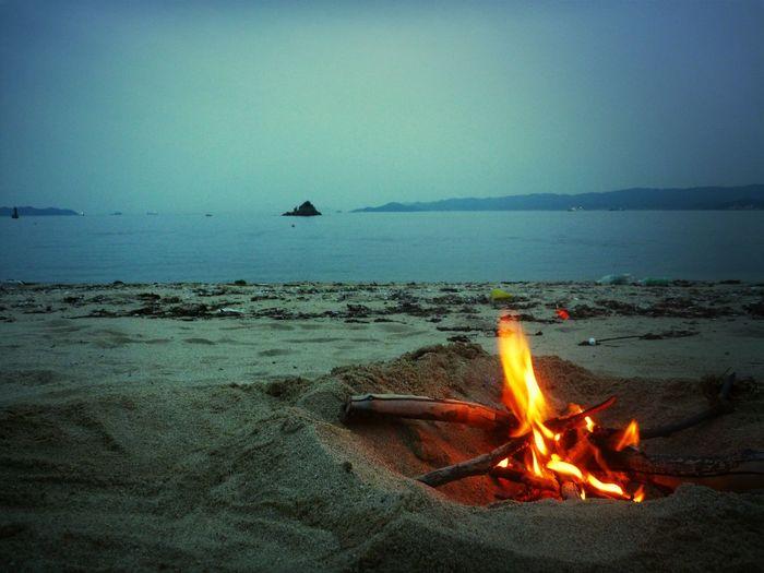 Bonfire At Beach