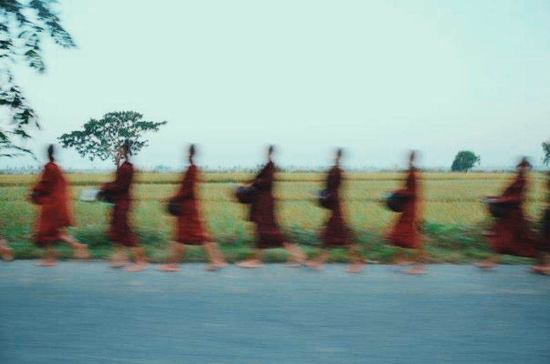 Monks On The Road in Burma. VSCO Travel Photography People Watching Feel The Journey