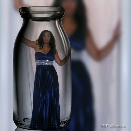 Picturing Individuality Gennie In The Bottle Blue Dress Genie And The Bottle