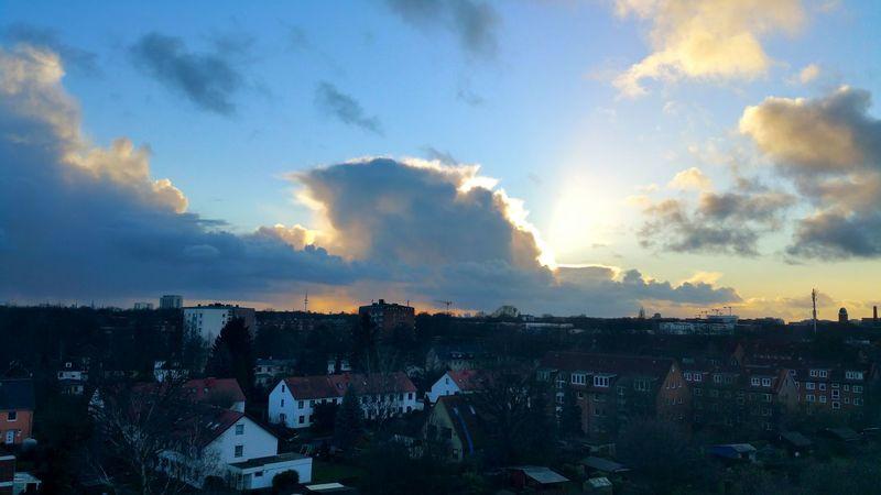 Meanwhile in Hamburg, Barmbekgermany... Evening Sky EyeEm Gallery EyeEm Best Shots Photography February 2016 Sky Sky_collection Skyporn