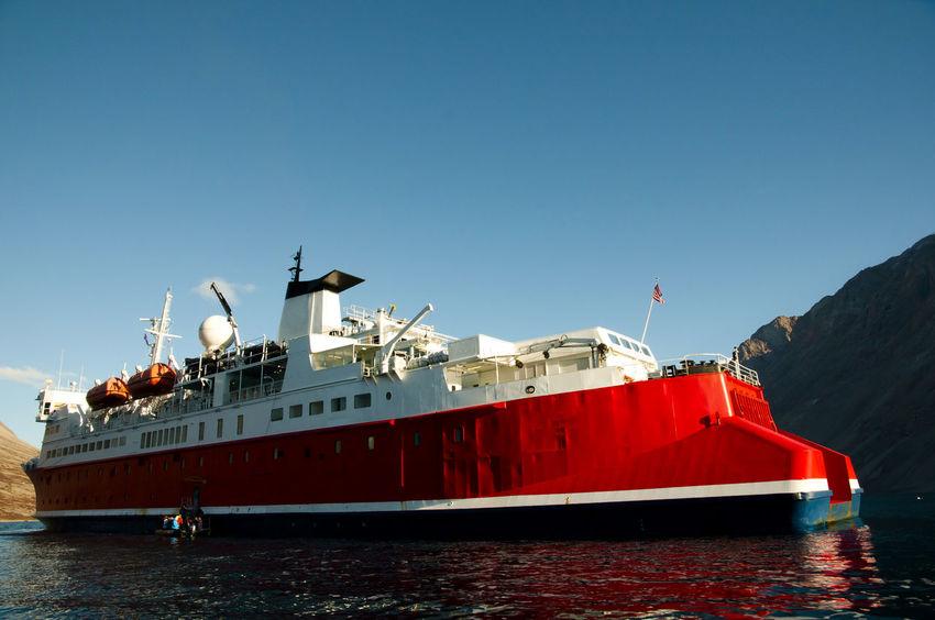 Expedition Ship - Greenland Expedition Ship Greenland Ice Breaker Arctic Nautical Vessel