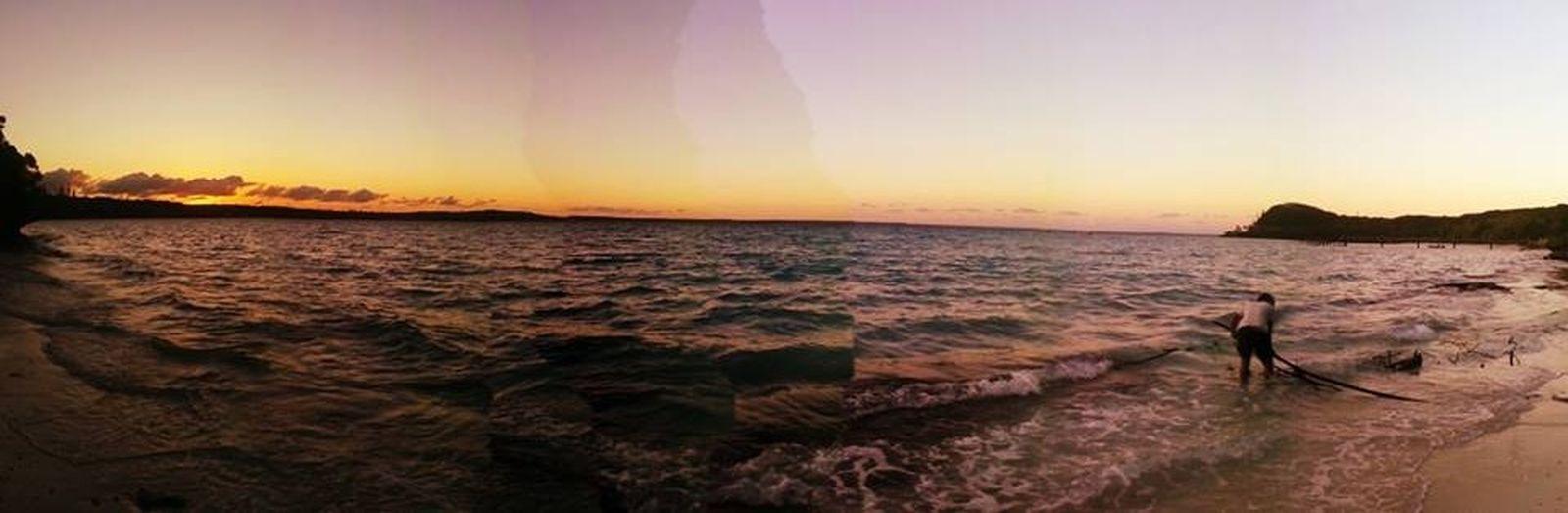 Sunset Silhouettes Lifou Drehu Newcal Newcaledonia Sunset Morning
