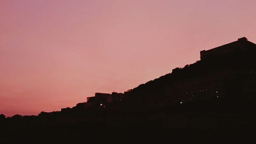 Sunset Pink Color Built Structure City Beauty In Nature Illuminated Cityscape Sky Architecture Naples SanMartino