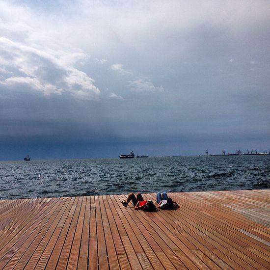 Thessaloniki Selanik Thessaloniki Greece Nea Paralia Thessalonikis Omorfi Thessaloniki Stormy Weather Rain Taking Photos Greece Macedonia