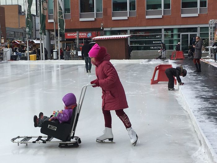 Skating Winter Cold Temperature Snow Child Childhood Leisure Activity Ice