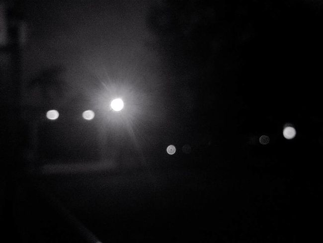 "Trying out the ""Bokeh"" effect Dark Blur Bokeh Bokeh Photography Bokeh Lights Black & White B&W Portrait Night No People Glowing Mi4i The Purist (no Edit, No Filter)"