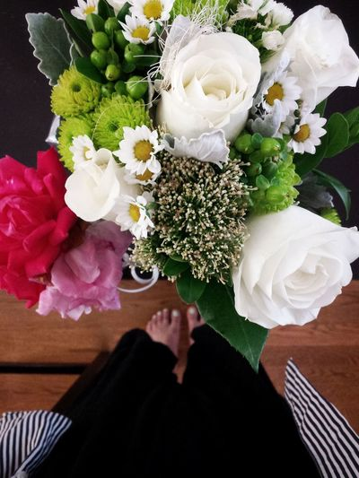 Bouquet Flowers Fragility Fresh From Above  High Angle View Mother's Day 2016