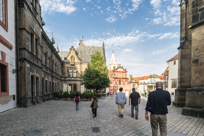 Views of the main monuments and streets of Prague, in the Czech Republic Architecture Bohemian Building Exterior Built Structure Capital Cities  Day European  History History Architecture Landscape Leisure Activity Lifestyles Men Outdoors People Prague Czech Republic Real People Sight Sityscapes Sky Streetphotography Travel Destinations Walking