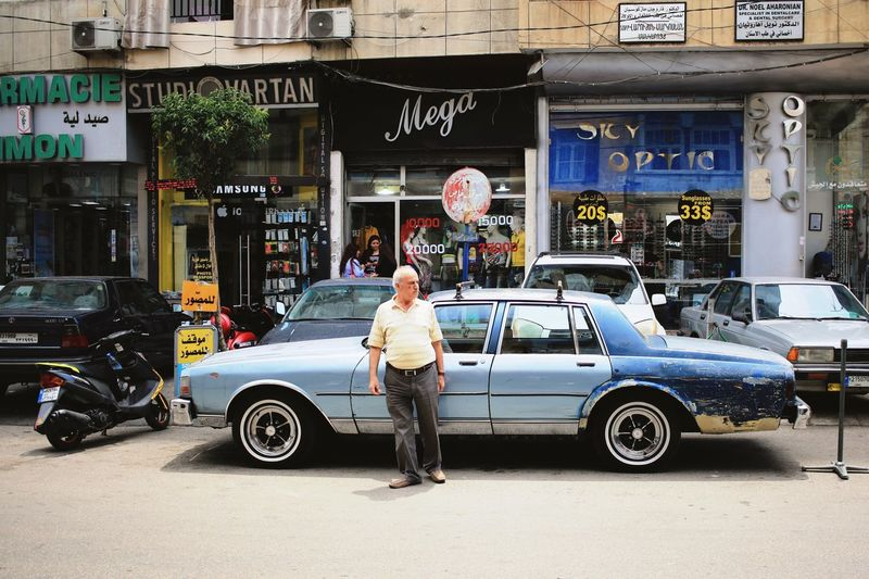 Beirut Lebanon Transportation Outdoors Car People Busy Mega