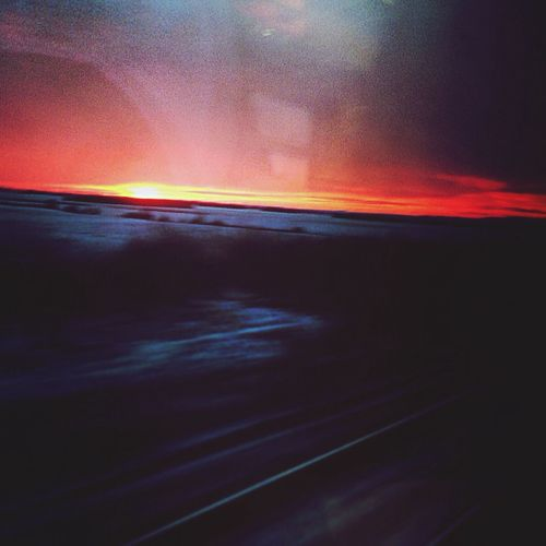 View from the train Sunset Before Night Light View First Eyeem Photo