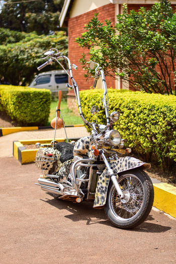 African Chopper 1 African Architecture Building Building Exterior Built Structure Chopper City Day Front Or Back Yard Growth House Land Vehicle Mode Of Transportation Motorcycle Nature No People Outdoors Plant Stationary Sunlight Transportation Tree
