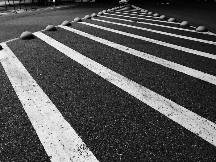 Zebra crossing on road