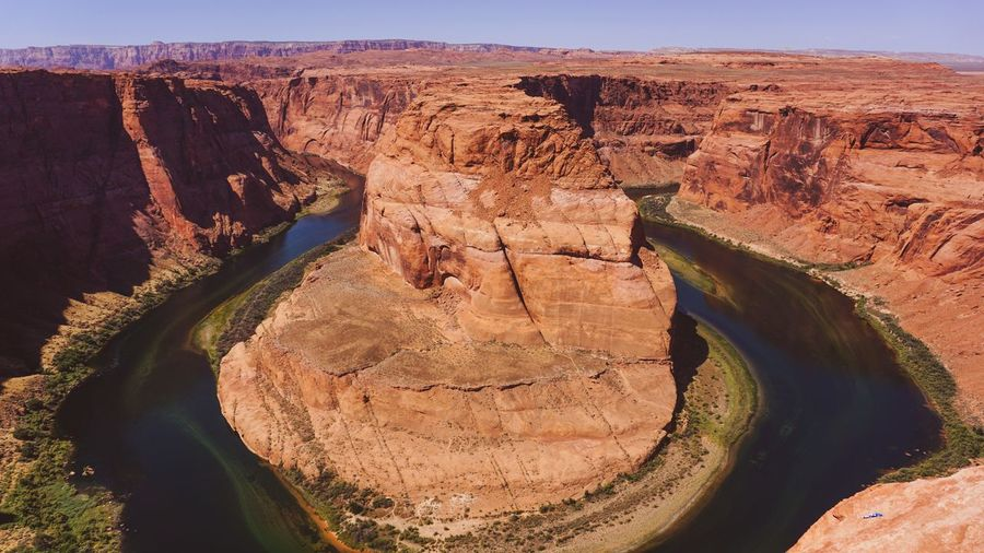 Nature Scenics Landscape Beauty In Nature Outdoors Arid Climate Sand Sky Backgrounds Nature_collection Nature Photography Nature Trip Photo USA Travel Inspired Traveling Mountain Desert Horseshoe Bend Canyonlands National Park Lanscape Photography No People Close-up Traveling Photography Miles Away