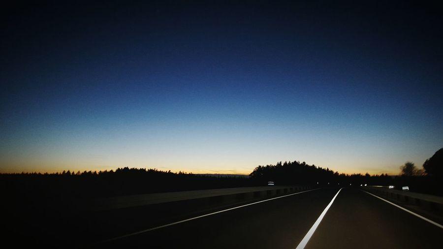 Throughmyeyes Sundown Sky Forest Blue Blue Sky Street