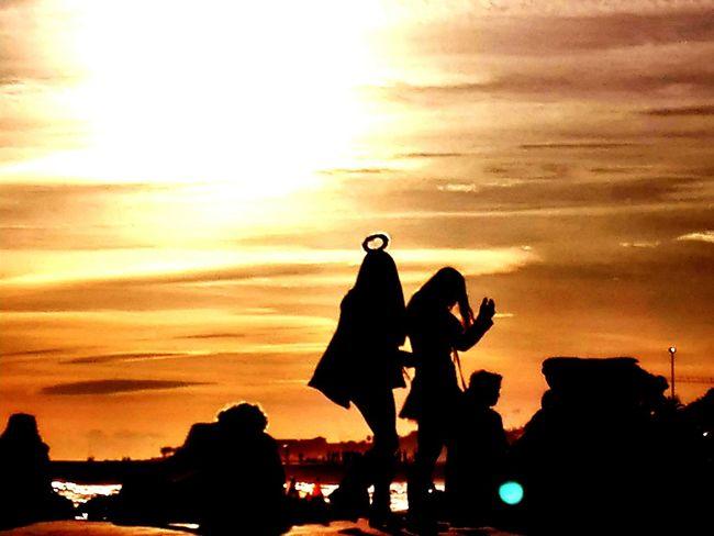 sunset Carnival carnaval girls saint sitges Colors of Carnival angel or Sunset Carnival Carnaval Girls Saint Sitges Colors Of Carnival Angel Angel Or Devil? Temptation Sin  Silhouette Orange Color Sky Cloud - Sky Real People People Outdoors