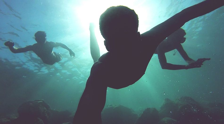 Goprohero Fisheye Underwater Apnea Training Water Light Shadows Check This Out Coldwater Discovering Exploration