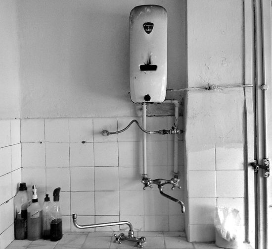 Hot water...