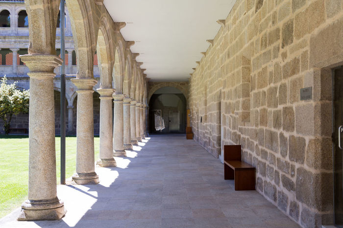 Monasterio de Santo Estevo in Galicia Abbey Ancient Architecture Beautiful Christian Church Cloister Column Galicia Garden Gothic Historic Hotel Medieval Monastery Ourense, Galicia Parador SPAIN Stone Travel Travel Destinations