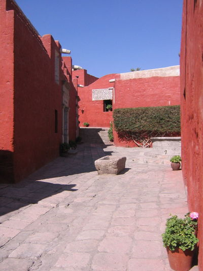 Architecture Arequipa Arequipa - Peru Building Exterior Built Structure Clear Sky Day Monastary Monasterio De Santa Catalina No People Outdoors Sky Sunlight