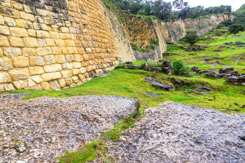 Stone walls of the ancient city of Kuelap, Peru Amazonas Ancient Architecture Building Chachapoyas Chachapoyya Civilization Culture Fort Fortress Historic Inca Kuelap Peru Ruin Ruins South America Stone Traditional Utcubamba