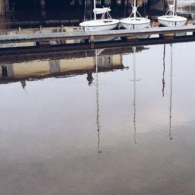 Noch mal Seeromantik von gestern Three Reflections Boat lake romantic water saturday