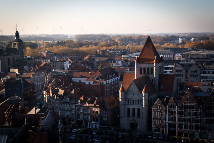 Tournai, Belgium Tournai Belgium Wallonie Architecture Built Structure Building Exterior City Building History Travel Destinations Sky Outdoors Spire  Church Place Of Worship Residential District Religion Cityscape Spirituality Belief TOWNSCAPE Gothic Style