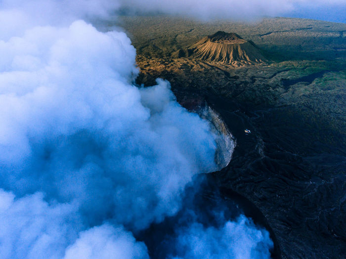 Beauty In Nature Day Erupting Geology Mountain Nature No People Outdoors Physical Geography Power In Nature Scenics Sky Smoke - Physical Structure Tranquil Scene Tranquility Travel Destinations Volcanic Landscape Volcano