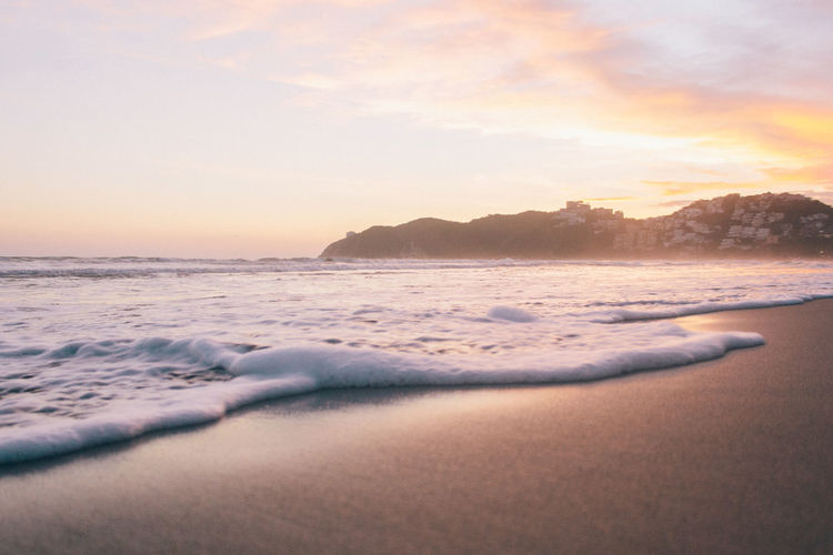 Beach México Beach Beauty In Nature Day Horizon Over Water Idyllic Nature No People Ocean Outdoors Reflection Sand Scenics Sea Sky Sun Sunlight Sunset Tranquil Scene Tranquility Travel Water Wave