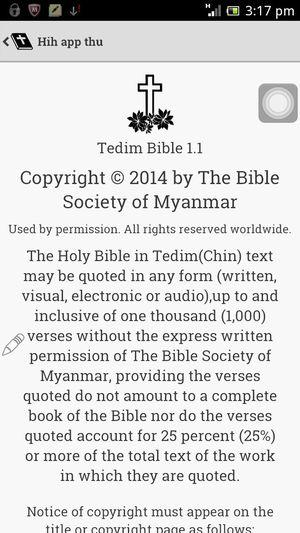 Tedim Chin Zomi Bible