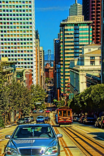 Architecture Building Exterior Cable Car Car City City Life Land Vehicle Mode Of Transport No People San Francisco Street Transportation