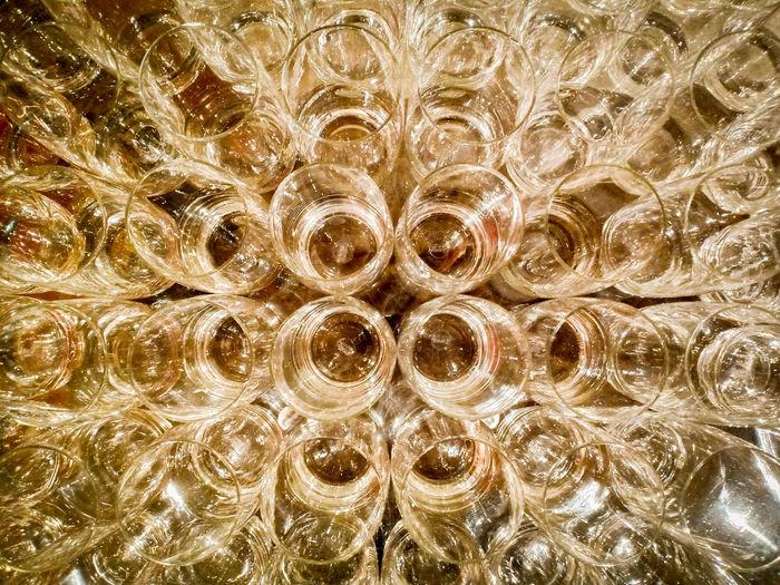 Full frame shot of bubbles in plastic