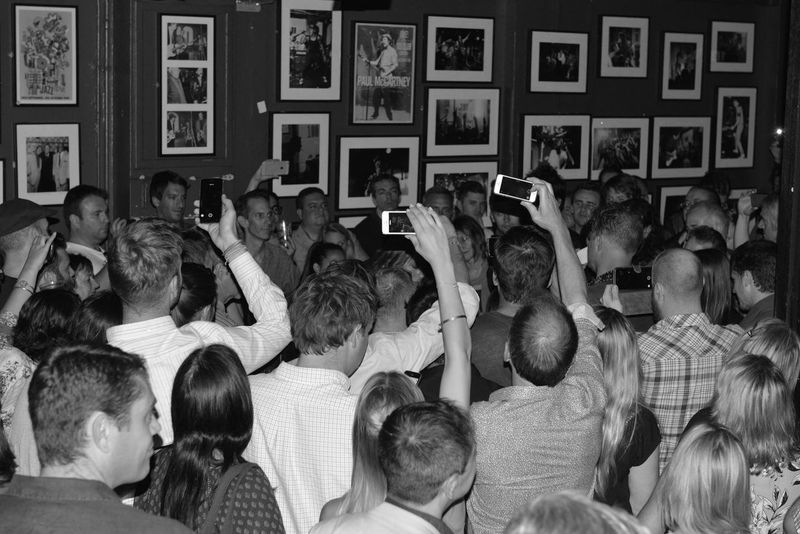 Mobile phones at the ready when The Lone Bellow do an impromptu song in the crowd and disappear Live Music Music Blackandwhite Black & White London The Photojournalist - 2015 EyeEm Awards The Fan Club