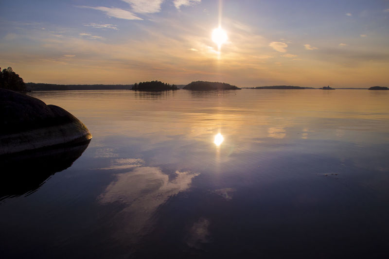 The Great Outdoors - 2019 EyeEm Awards Sunset Stockholm Archipelago Reflection Sky Water Scenics - Nature Beauty In Nature Nature Outdoors Sunlight EyeEm Best Shots EyeEm Nature Lover EyeEm Best Edits