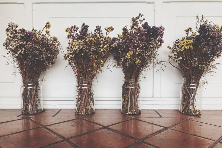 Tiled Floor Vintage Style Flower No People Growth Nature Indoors  Day Dried Flowers