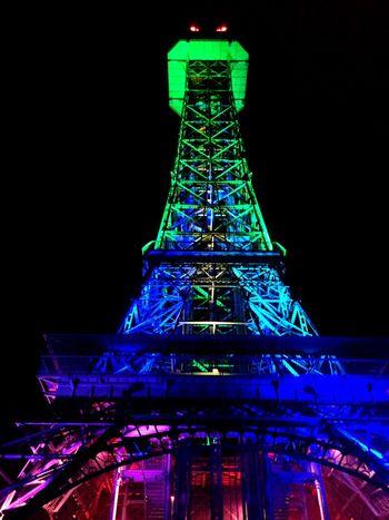 Kings Island Neon Lights Night Lights Tower Neon Rainbow Colors