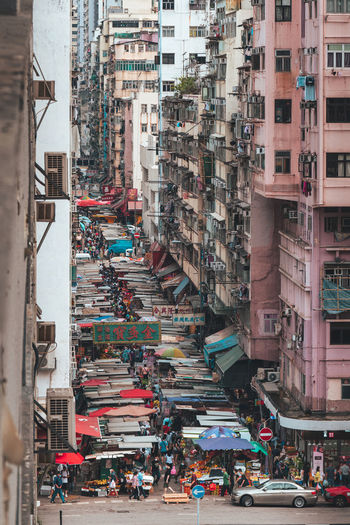 Mong kok preserves its traditional characteristics with an array of markets.