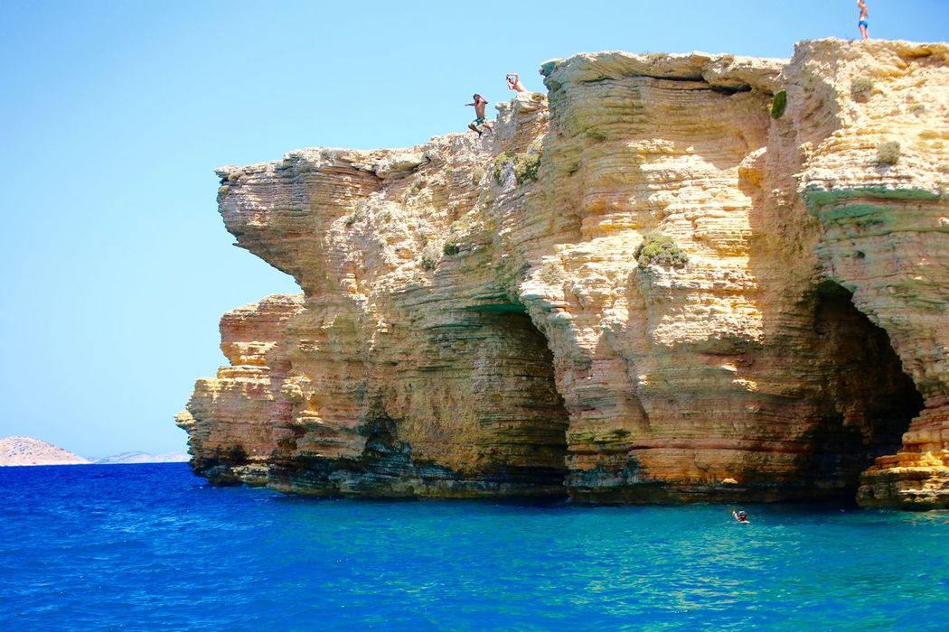 Koufonisia, Greece, 24meters Cliff Diving Cliff Jumping Deep Blue Greek Waters High Cliff Koufonisia Vacation