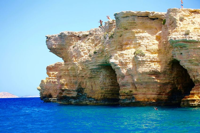 Koufonisia, Greece, 24meters Cliff Diving Cliff Jumping Deep Blue Greek Waters High Cliff Koufonisia Vacation Moments Of Happiness