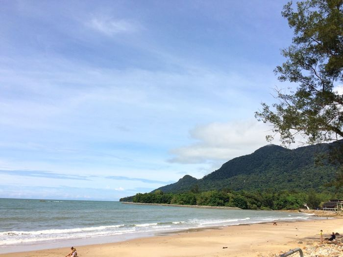 Beach day Traveler Landscape Traveling Backgrounds Peaceful Nature Lover Sarawak Borneo Wallpaper Vacations Ocean Water Beach Land Sea Sky Scenics - Nature Beauty In Nature Cloud - Sky Tree Tranquil Scene Tranquility Nature Day Sand Plant Incidental People Non-urban Scene Outdoors Holiday