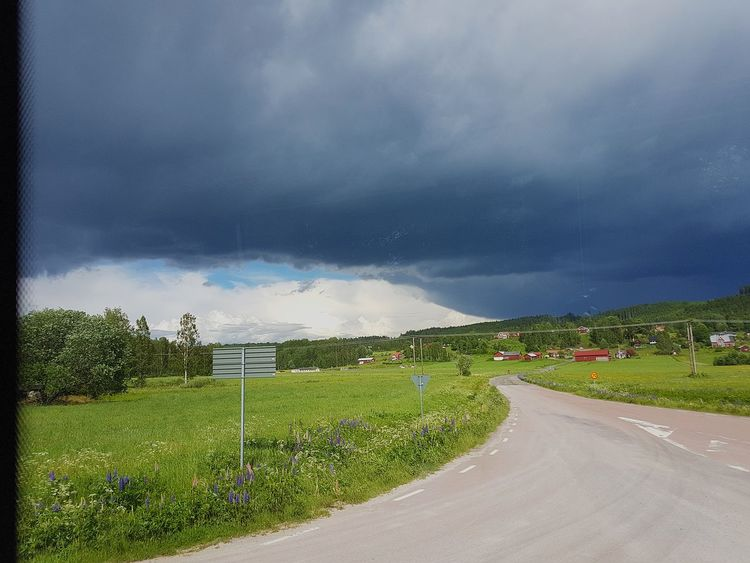 Thunder Green Nature Darkbluesky Lysvik Through The Bus Window Beautiful Scenery