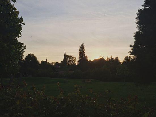Sun. Sunset City Abend Germany